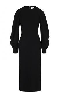 Приталенное платье-миди с круглым вырезом Victoria Beckham