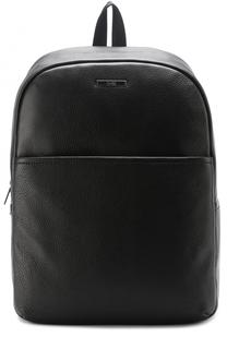 Кожаный рюкзак с внешним карманом HUGO