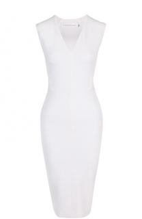 Платье-футляр с открытой спиной и V-образным вырезом Victoria Beckham