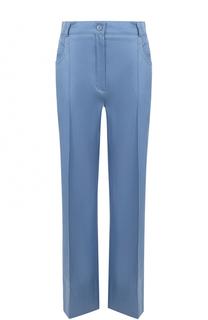 Расклешенные брюки из смеси шерсти и шелка Nina Ricci