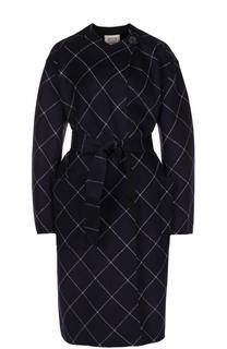 Пальто из смеси шерсти и кашемира с поясом Armani Collezioni