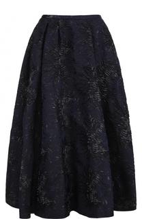 Пышная юбка-миди с цветочной отделкой Rochas