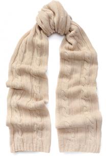 Шарф фактурной вязки из кашемира Kashja` Cashmere