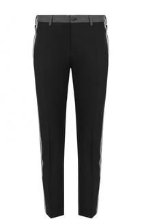 Укороченные брюки из смеси хлопка и шелка с лампасами Dolce & Gabbana