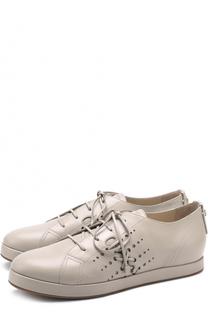Кожаные ботинки на шнуровке Giorgio Armani