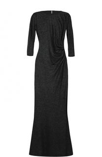 Приталенное платье-макси с укороченным рукавом и драпировкой Weill
