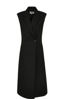 Приталенное шерстяное платье без рукавов Maison Margiela