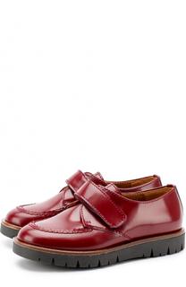 Кожаные ботинки с застежками велькро Beberlis