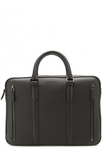Кожаный портфель для ноутбука с плечевым ремнем Ermenegildo Zegna