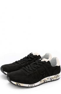 Замшевые кроссовки на шнуровке Premiata