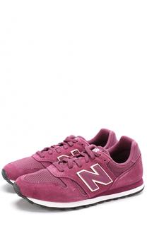 Замшевые кроссовки 373 с сетчатой вставкой New Balance