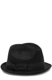 Фетровая шляпа с лентой Giorgio Armani