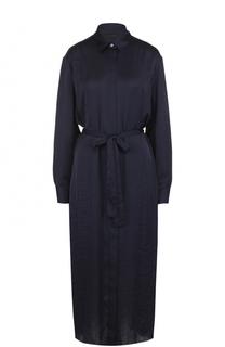 Однотонное платье-рубашка с поясом The Row
