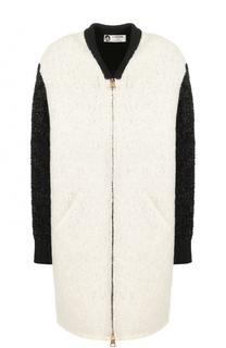 Вязаное пальто с V-образным вырезом Lanvin