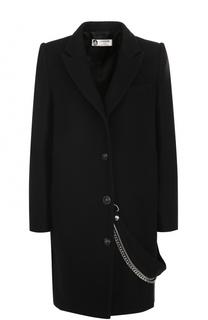 Пальто прямого кроя с декоративной цепью Lanvin