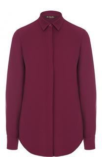 Шелковая блуза с контрастной спинкой Loro Piana