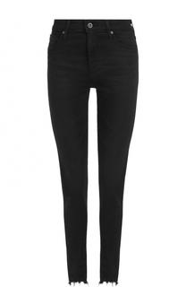 Однотонные джинсы-скинни с потертостями Ag