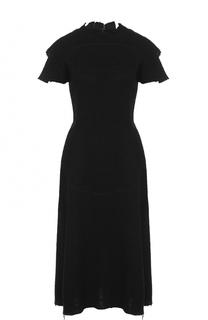 Приталенное буклированное платье-миди Maison Margiela