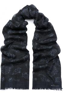 Шерстяной шарф с узором пейсли Kiton