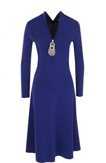 Приталенное платье-миди с вырезом на молнии Balenciaga