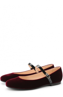 Текстильные туфли с кожаным ремешком Il Gufo