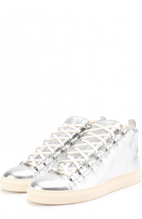 Кеды из металлизированной кожи на шнуровке Balenciaga
