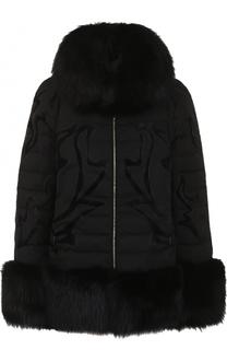 Куртка на молнии с отделкой из меха лисы Elie Saab