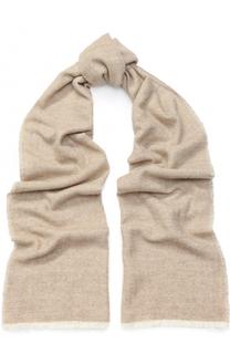 Кашемировый шарф с необработанным краем Kiton