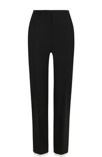 Укороченные шерстяные брюки с контрастной отделкой Alexander McQueen