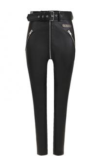 Укороченные кожаные брюки с поясом Balenciaga