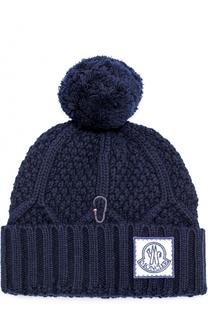 Шерстяная вязаная шапка с помпоном Moncler