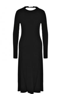 Вязаное платье-миди с длинным рукавом BOSS