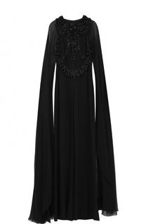 Комбинезон с декоративной вышивкой и длинными рукавами Elie Saab