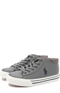 Кеды на шнуровке с логотипом бренда Polo Ralph Lauren