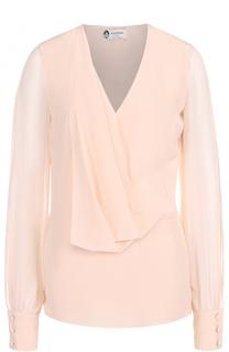 Шелковая блуза с прозрачными рукавами Lanvin