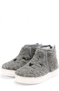 Ботинки из текстиля с вышивкой на молнии Joshua Sanders