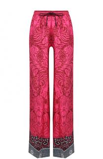 Широкие шелковые брюки с принтом Mary Katrantzou