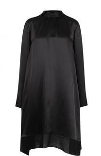 Шелковое мини-платье свободного кроя Ann Demeulemeester