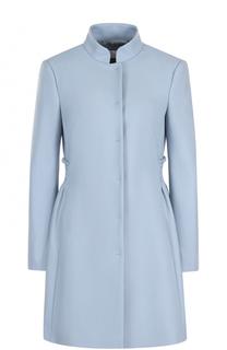 Приталенное пальто с воротником-стойкой REDVALENTINO