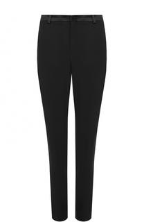 Шерстяные брюки прямого кроя с карманами Lanvin