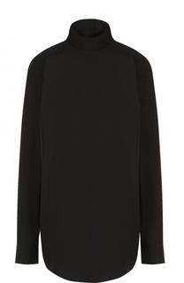Хлопковая блуза с длинным рукавом и воротником-стойкой Dries Van Noten