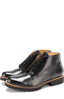 Кожаные ботинки на шнуровке и молнии Gallucci