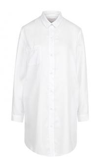 Хлопковая сорочка свободного кроя Derek Rose