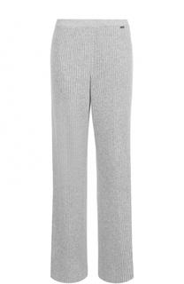 Кашемировые брюки фактурной вязки St. John