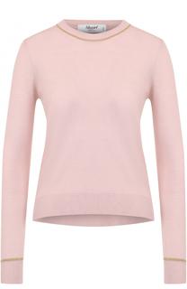 Шерстяной пуловер с круглым вырезом Blugirl