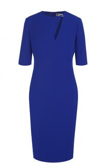 Приталенное платье-миди с укороченным рукавом Lanvin
