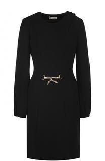 Приталенное платье-миди с длинным рукавом Lanvin