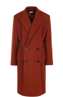 Двубортное шерстяное пальто прямого кроя Dries Van Noten