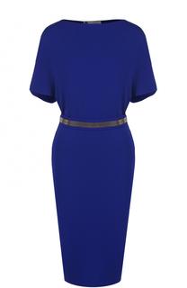 Приталенное платье-миди с вырезом-лодочка Lanvin