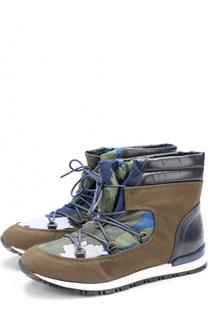Текстильные ботинки с принтом Stella McCartney